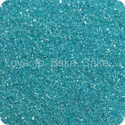 EDIBLE PALE BLUE SPARKLING GLITTER SUGAR CRYSTALS Cupcake Sprinkles 25g-500g