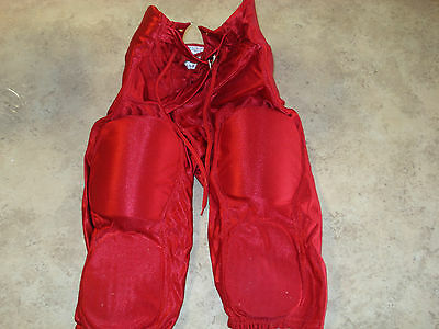Alleson Athletic Youth Kneel Padded Compression Red Football Pants size XL