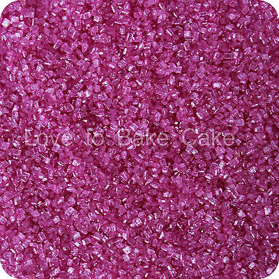 EDIBLE NEON PURPLE SPARKLING GLITTER SUGAR CRYSTALS Cupcake Sprinkles 25g - 500g