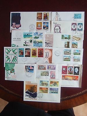 WESTERN SAMOA 1970-72 11 x DIFFERENT COMMEMORATIVE FIRST DAY COVERS