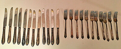 Vintage Holmes & Edwards Inlaid IS Silver-plate Flatware 23 Pieces arts + crafts