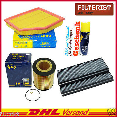 Cabin Filter Activated Carbon,Air Oil filter BMW E60 E61 520i 525i 530i + Gift
