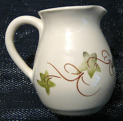 Babbacombe Pottery milk jug with a lovely Ivy leaf pattern. 4 1/2 inches tall