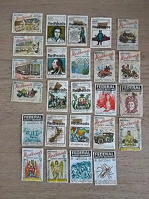 Collection of 25 Matchbox labels from Australia