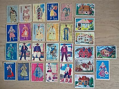 Collection of 28 French Seita Matchbox labels