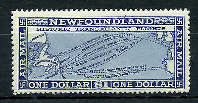 Newfoundland C8 MNH $1 blue 1931 Airmail on unwatermarked paper CV $120