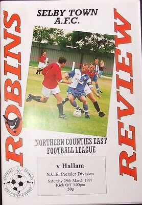 SELBY TOWN AFC v HALLAM NCE PREMIER DIVISION 1997