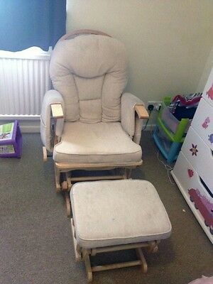 Sereno, natural wood, gliding nursing chair, great condition