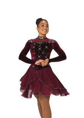 Figure Skating Competition Dress Jerry's 123 Wine & Waltzes Adult Large
