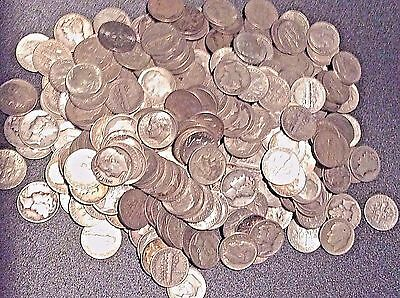 Group of 5 90% Silver Dimes---Bonus for purchase of 10 Lots !