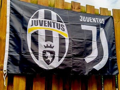 Juventus Flag Large Indoor Outdoor Banner 3 X 5' Soccer Italy UEFA Football