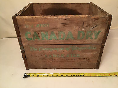 Early Vintage Wood Canada Dry Ginger Ale Crate, The Champagne of Ginger Ales