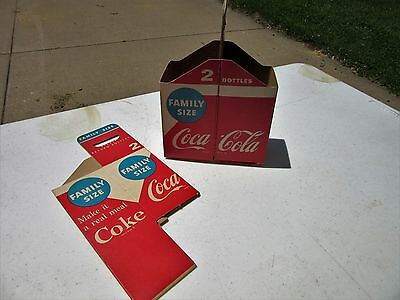 Qty Of 2 Coca Cola Family Size Carriers Cardboard