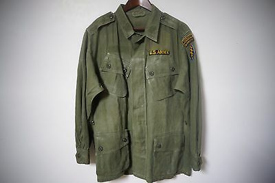 Vintage Vietnam War First Pattern Jungle Combat Tropical Jacket Ranger Patched