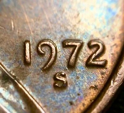 1972 S Lincoln Cent Double Die Obverse Error Coin Penny