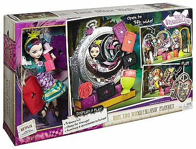 Ever After High Toy Way Too Wonderland Play set with Raven Queen Doll 3in1 Rooms