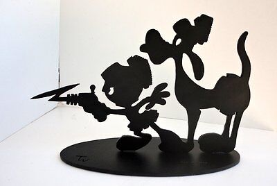 Limited Ed MARVIN THE MARTAIN & K9 Tex Welch Iron Shadow Sculpture #502 of 1200