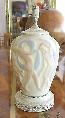 Phoenix Consolidated Glass Dancing Nude Nymphs Lamp Base