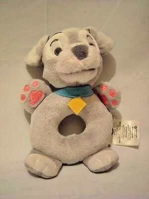 Disney Store Tramp The Dog Plush Ring Rattle Lady and the Tramp