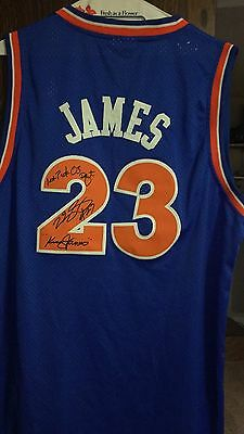 Lebron James Beautifully Autographed and Inscribed Adidas Cavs Jersey! W/LOA
