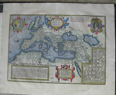 1603 or 1609 ANCIENT MAP of the ROMAN EMPIRE by Abraham Ortelius - XYZ