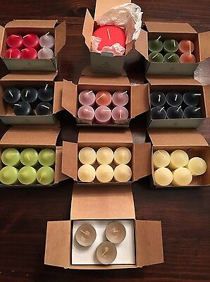 56 RETIRED Partylite Candle Lot Votive & Tealights Balsam Tuscan BLoom Sage Pine