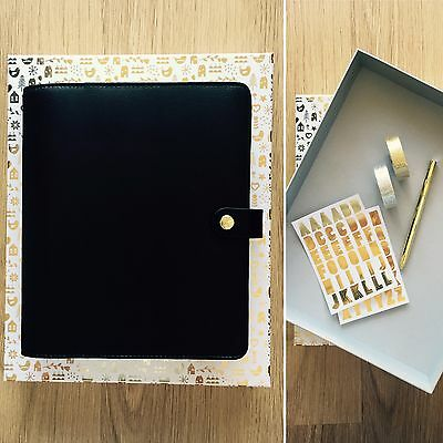 Kikki.K **Gift Pack** with LARGE Black Limited Edition Personal Planner ~ BNIB ~