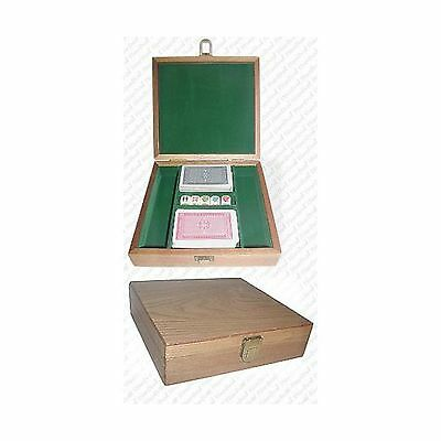 Trademark Oak Poker Chip Case - 100 Piece Capacity (Brown) New
