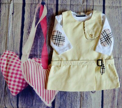 Burberry Baby Girl Designer Clothes Bundle Romany Dress & Elbow Patch Top 0-3 Mt
