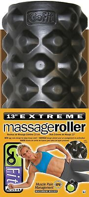 Gofit Llc Extreme Massage Roller with Training Manual Black/Green 13-Inch
