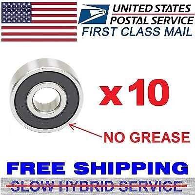 x10 608RS Two Side Rubber Seals Bearing 608-rs Ball Bearings 608 RS Ten