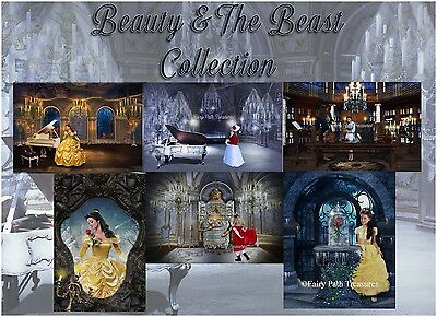 Beauty and The Beast Inspired Digital Backdrop Collection