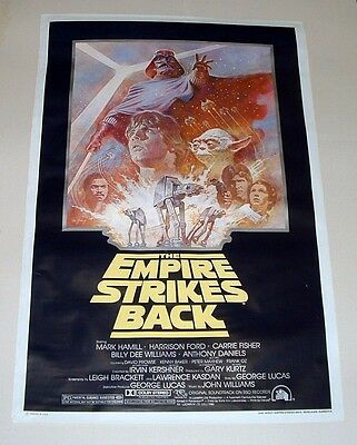 Star Wars, Empire Strikes Back One Sheet Movie Poster Rerelease - 41X27 - 1982