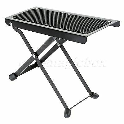 Guitar Drum Pedal Anti-Slip Foot Rest Stool Folds Flat Easy Storage Transport