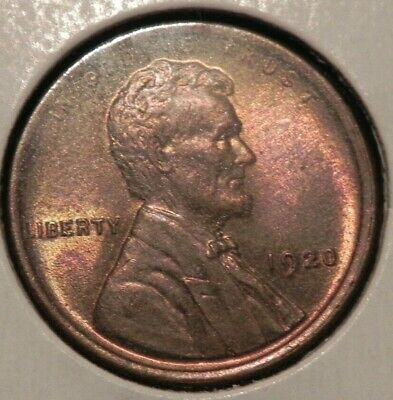 STUNNING 1920 P Lincoln Head Cent Penny MS BU UNC +++++ RB BUY IT NOW OFFER