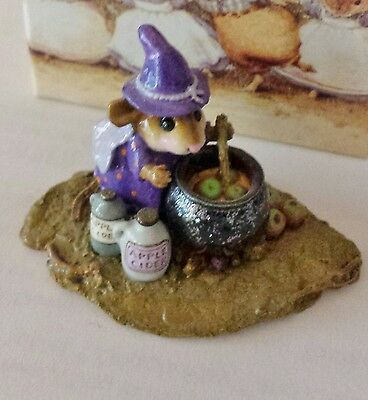 "Wee Forest Folk M-215 ""Something's Brewing"" Purple RETIRED Mint"