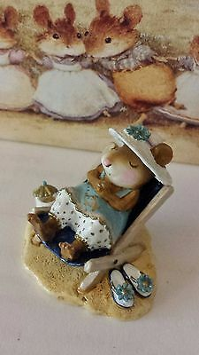 "Wee Forest Folk M-234 ""Sun Snoozer"" MOUSE SOCIAL 2006 SPECIAL Mint"