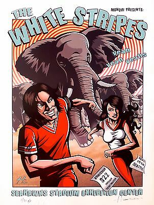 The White Stripes Poster w/ Yeah Yeah Yeahs 2003 Concert - ARTIST PROOF