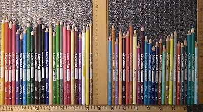 Set of 50 Vintage Laurentien Colored Pencils Crayons 1-24 Set Plus High Numbers