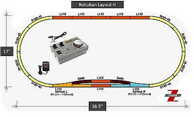 Rokuhan Z Scale Layout H With RC03 Controller & Wall Adapter