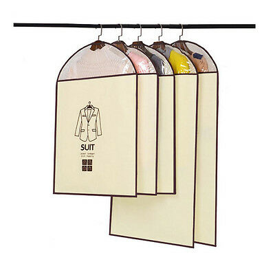 Breathable Suit Dust Cover Hanging Garment Coat Dress Clothes Bags Damp-proof