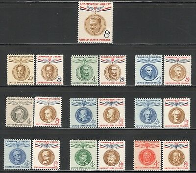 1096/1175 Champion Of Liberty Complete Set Of 19 US Postage Stamps (A-21)
