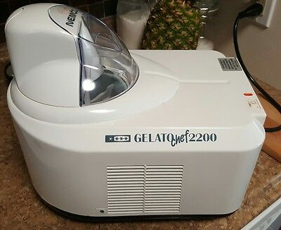Nemox Gelato Chef 2200 Made In Italy For Use In Usa Original Box Ice Cream