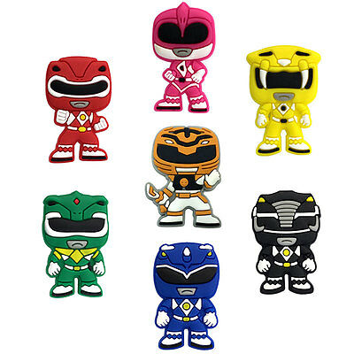 7pcs Power Rangers PVC Shoe Charms Accessories Fit Croc&Jibbitz as Birthday Gift