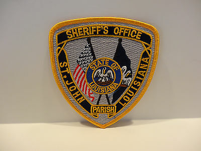 St. John Louisiana Sheriff's  Patch.. With State Seal...colorful  Embroidery..