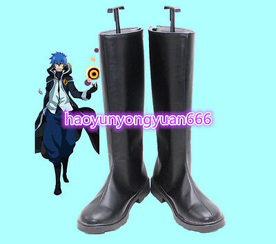 New!Fairy Tail  Jellal   Cosplay Costume Boots Boot Shoes