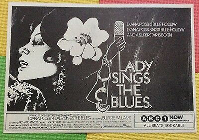 LADY SINGS THE BLUES Diana Ross Billie Holiday Original Film Movie Advertisement