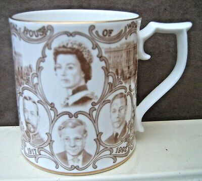 75th Anniversary The Royal House of Windsor Sutherland Porcelain Mug Family Tree