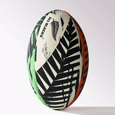 All Blacks GR Rugby Ball- adidas, Multi Colour, New Zealand Pattern, Size 5, New