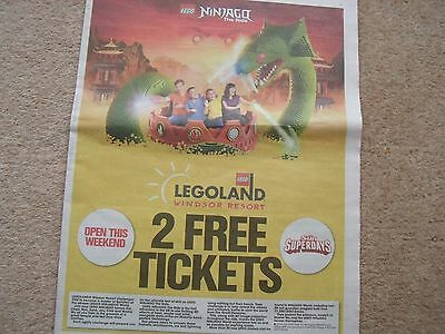The Sun Legoland 2 X Free Tickets - Booking Form - 10 Tokens
